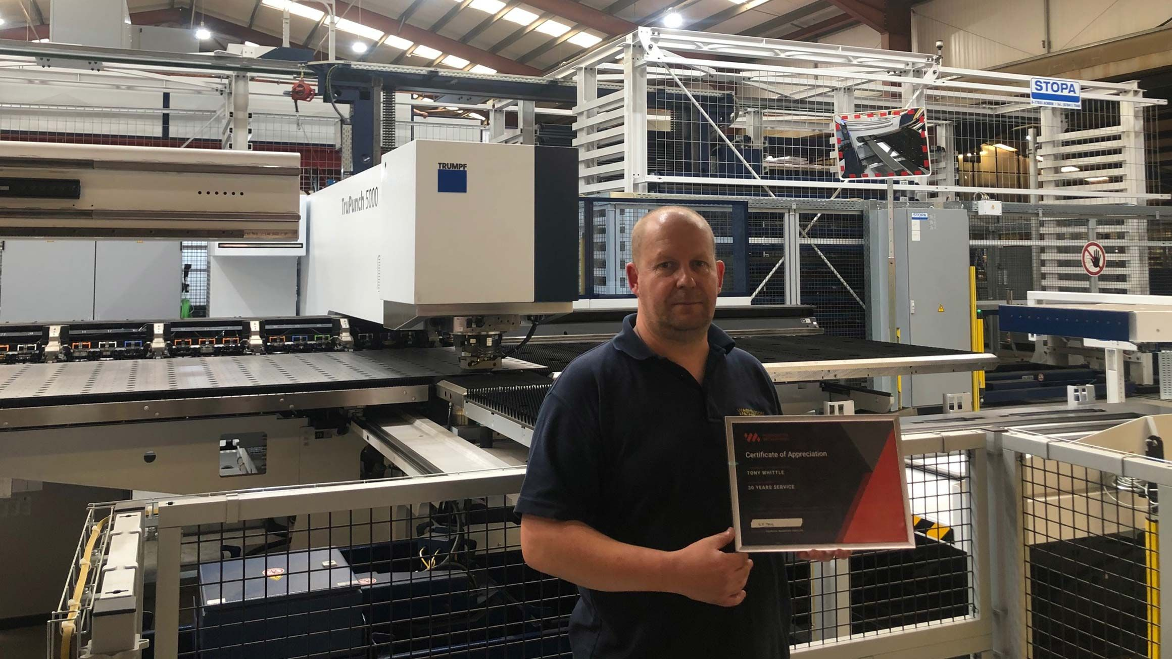 Tony Whittle celebrates 30 years at Washington Metalworks